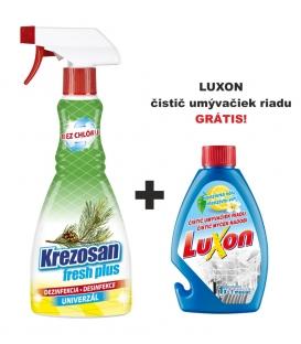 Krezosan fresh plus 500ml + Luxon čistič umývačiek riadu 250ml