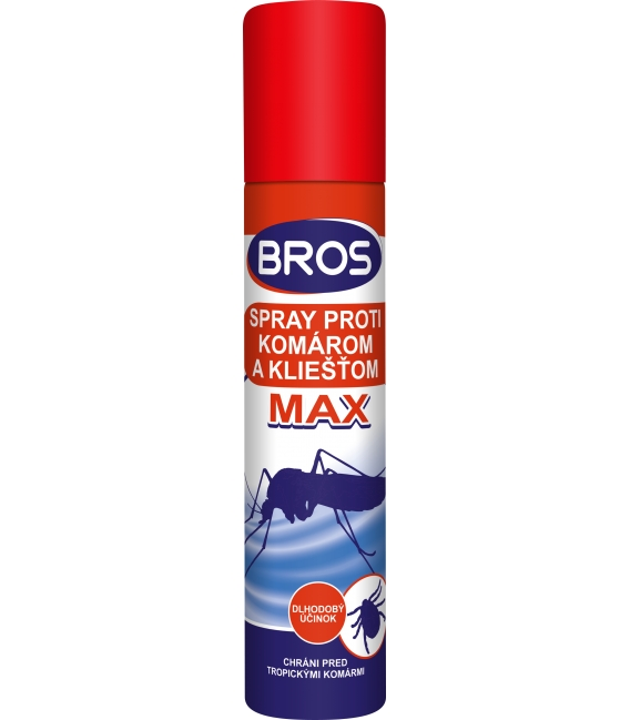 BROS- spray proti komárom a kliešťom MAX 90ml