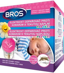 BROS- elektrický odparovač proti komárom pre deti