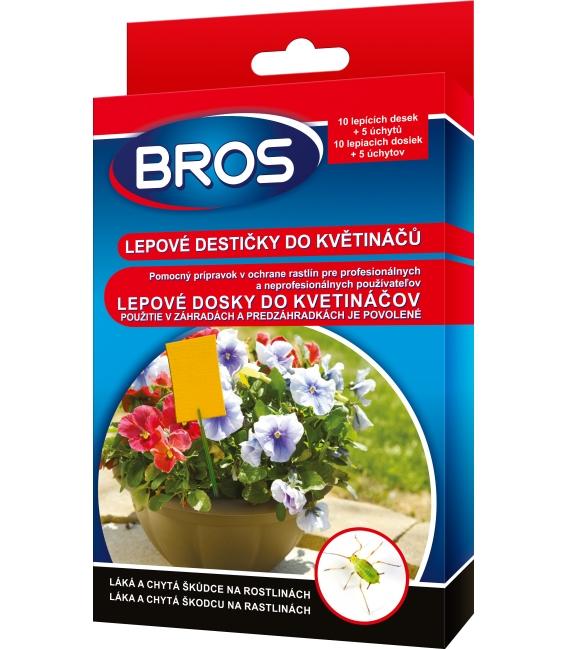 BROS- lepové dosky do kvetináčov 10ks