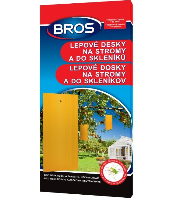 BROS- lepové dosky na stromy a do sklenníkov 10ks