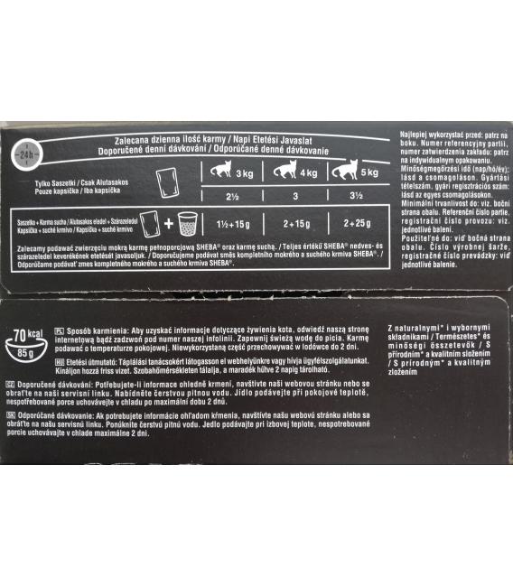 SHEBA šťavnatý výber v omáčke kapsičky 12x85g