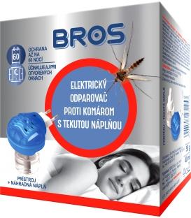 BROS elektrický odparovač proti komárom s tekutou naplňou 1ks